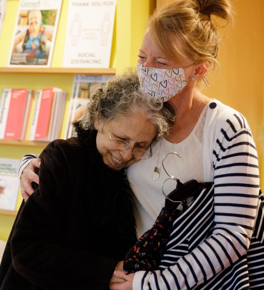 cabi Stylist during Heart of cabi Foundation event in the U.K. helping a woman in need