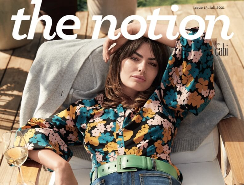 Cover image of cabi's Fall 2021 Notion magazine